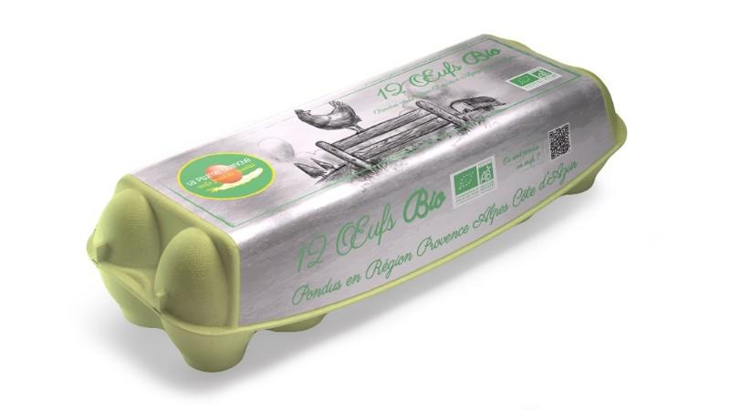 Boîte de 12 œufs Bio PACA