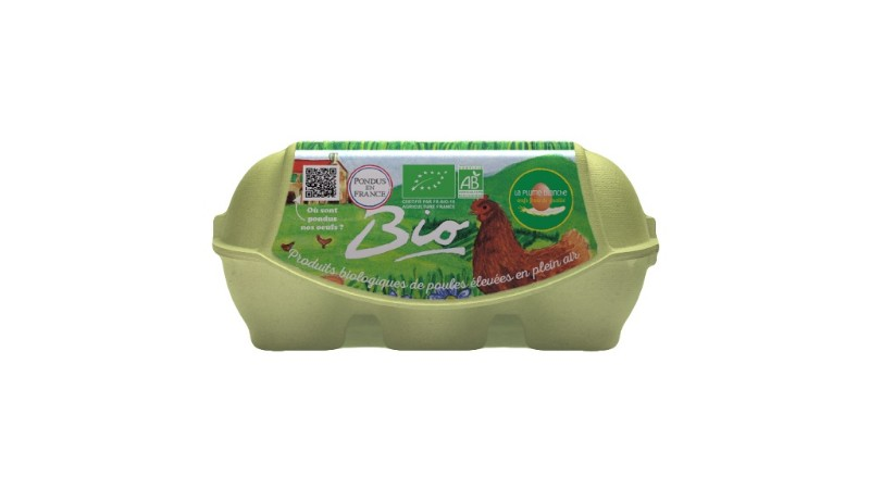 Boîte de 6 oeufs Bio
