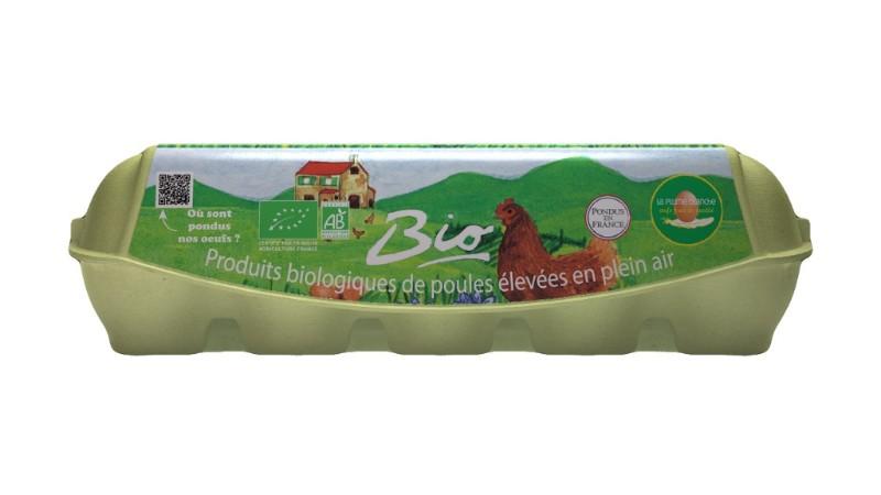 Boîte de 10 œufs Bio