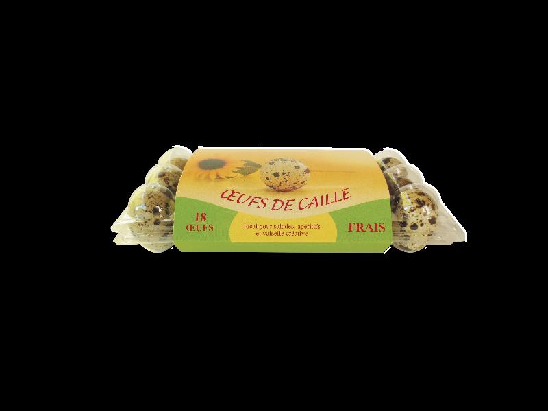 Boîte de 18 oeufs de caille