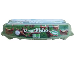 Boîte de 12 oeufs Bio
