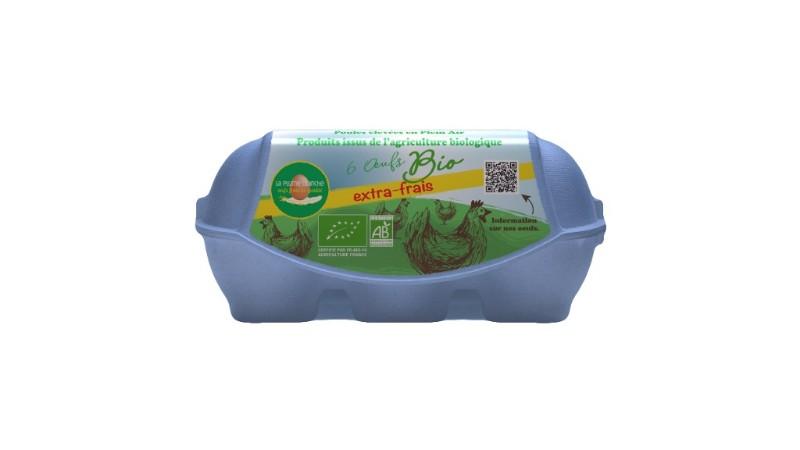 Boîte de 6 œufs Bio EXTRA-FRAIS