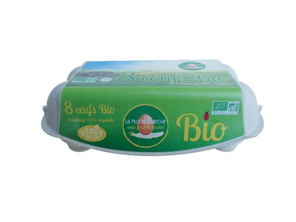 Boîte de 8 oeufs Bio